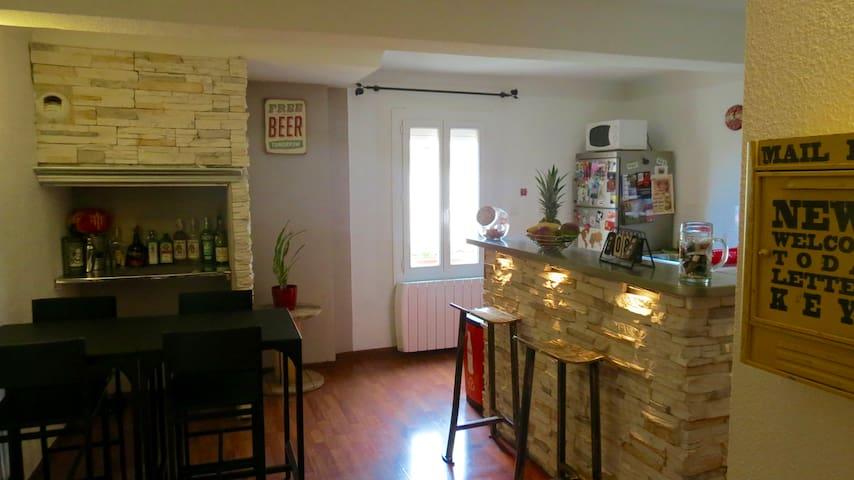 Cosy et calme T3 dans maison de village TB situé - Alénya - Appartement