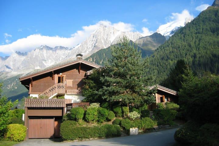Delightful chalet beneath Mt Blanc range.