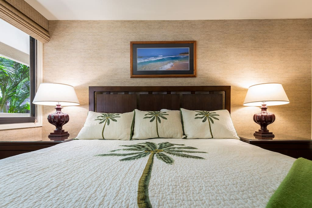 Master bedroom with A/C.