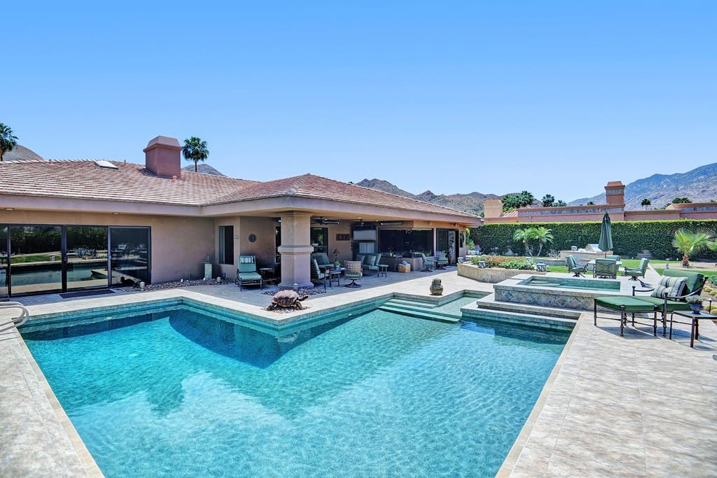 POOL AND SPA TO HOUSE
