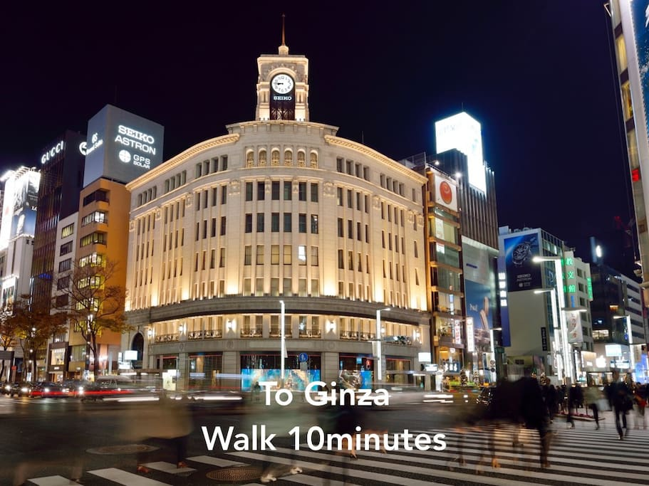 To Ginza Walk 10minutes.