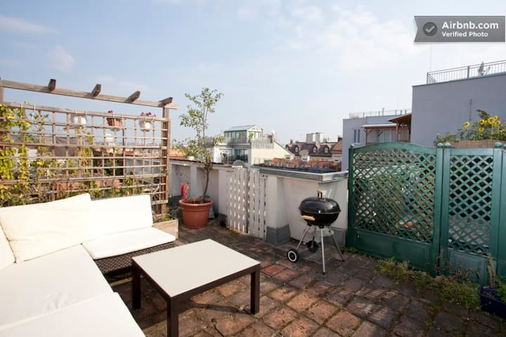 COSY ROOF TERRACE APARTMENT with view over Vienna