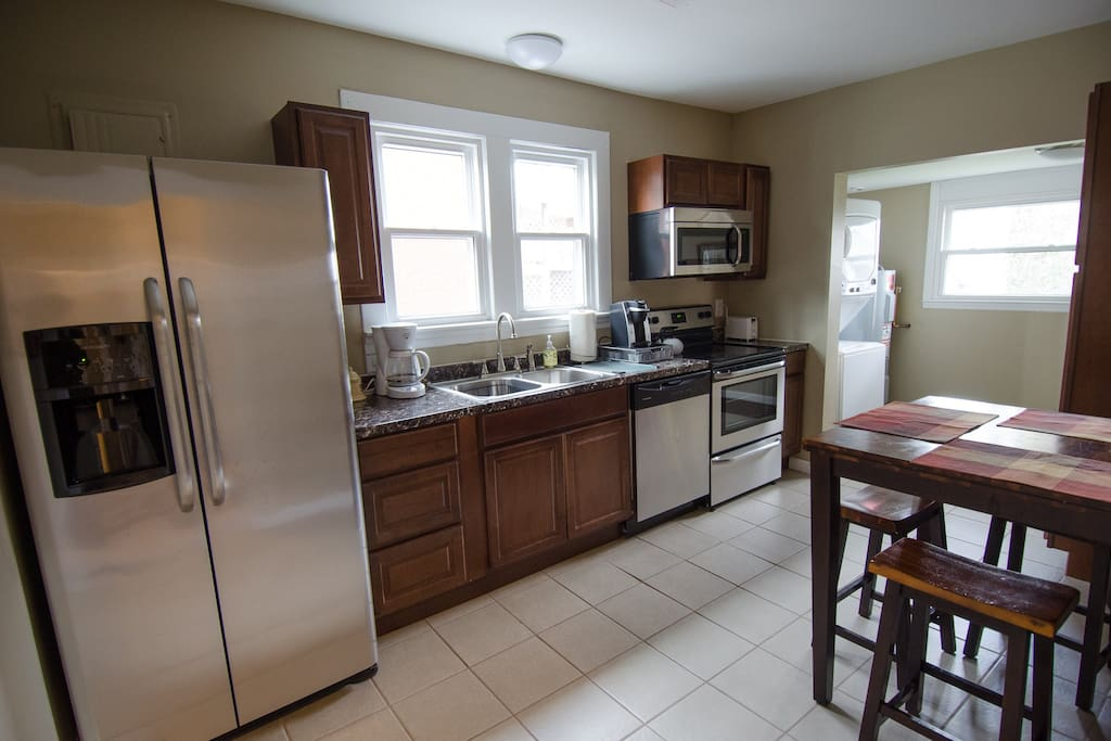 Kitchen with new cabinets and appliances