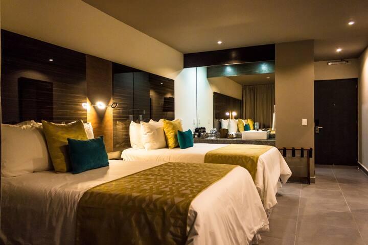 Habitación Privada en el centro de Cancun 4 PAX