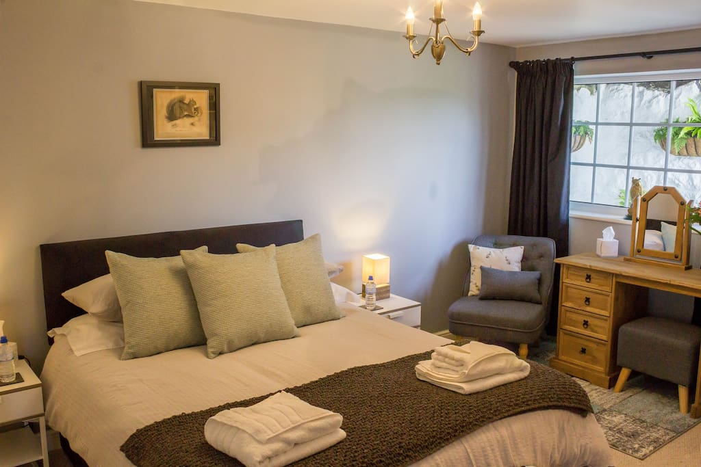 The cosy bedroom at Hillside, with comfy, king size bed