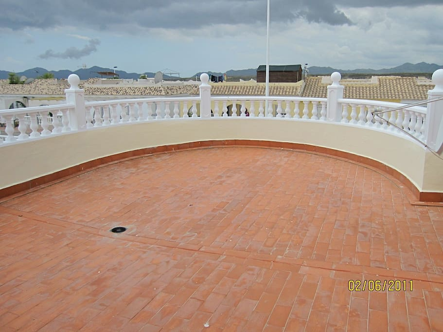 Roof Terrace leading from upper bedroom