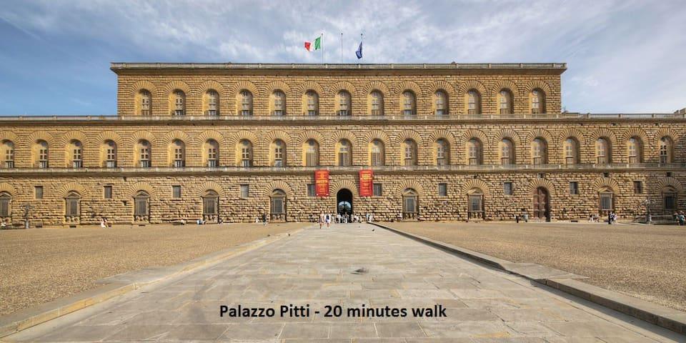 Pitti - 20 minutes walk