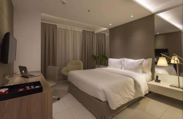 Quarto de hotel área nobre Belo Horizonte