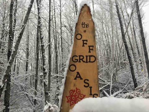 Winter Camping-The Off Grid Oasis   Tent #2