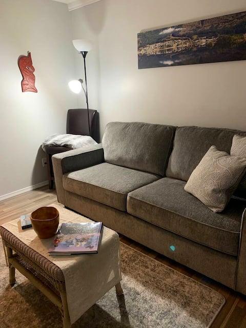 Frisk hyggelig suite med egen indgang og indtjekning uden vært