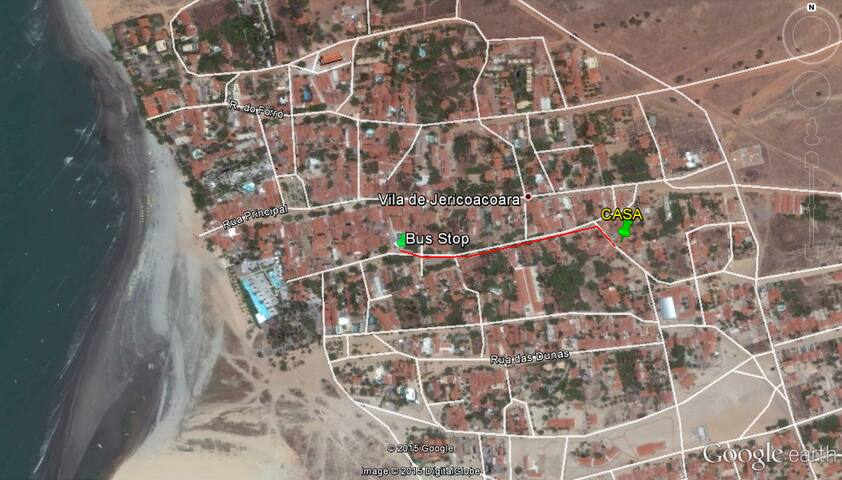 Map - 350 meters from the bus stop.