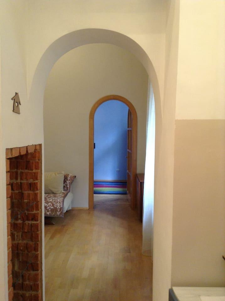 Walkway to the bedroom