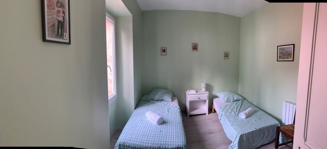Twin room, perfect for kids as it connects to the double room