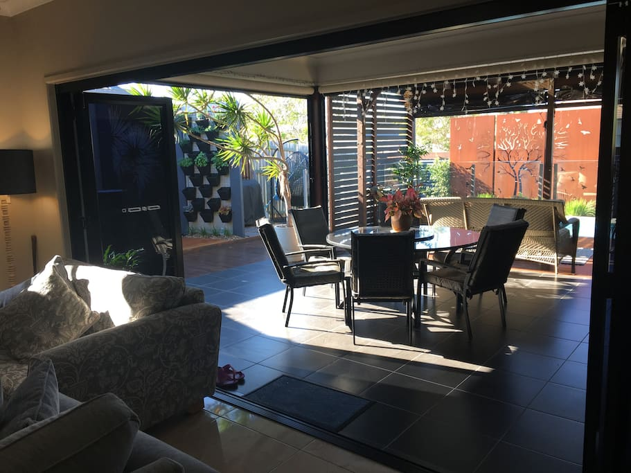 Family room opens onto a lovely deck / sitting area.