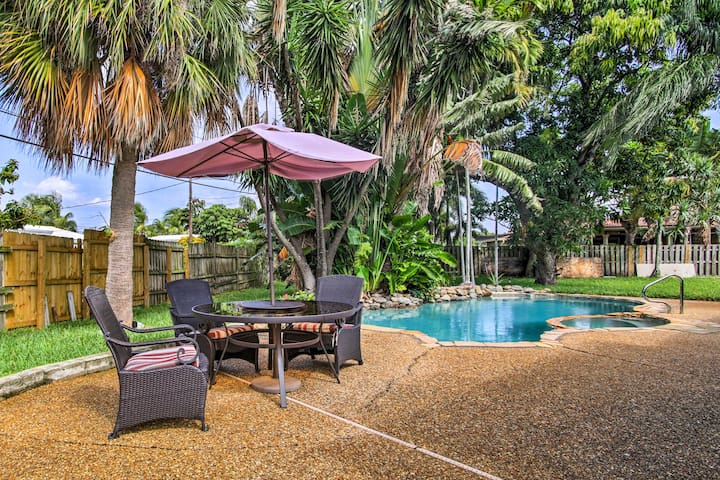NEW! Pompano Beach House w/ Private Pool & Yard!