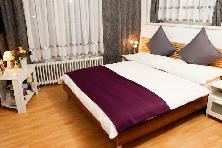 bis zu 12 Gäste - 7 Schlafzimmer - 400m zum HB