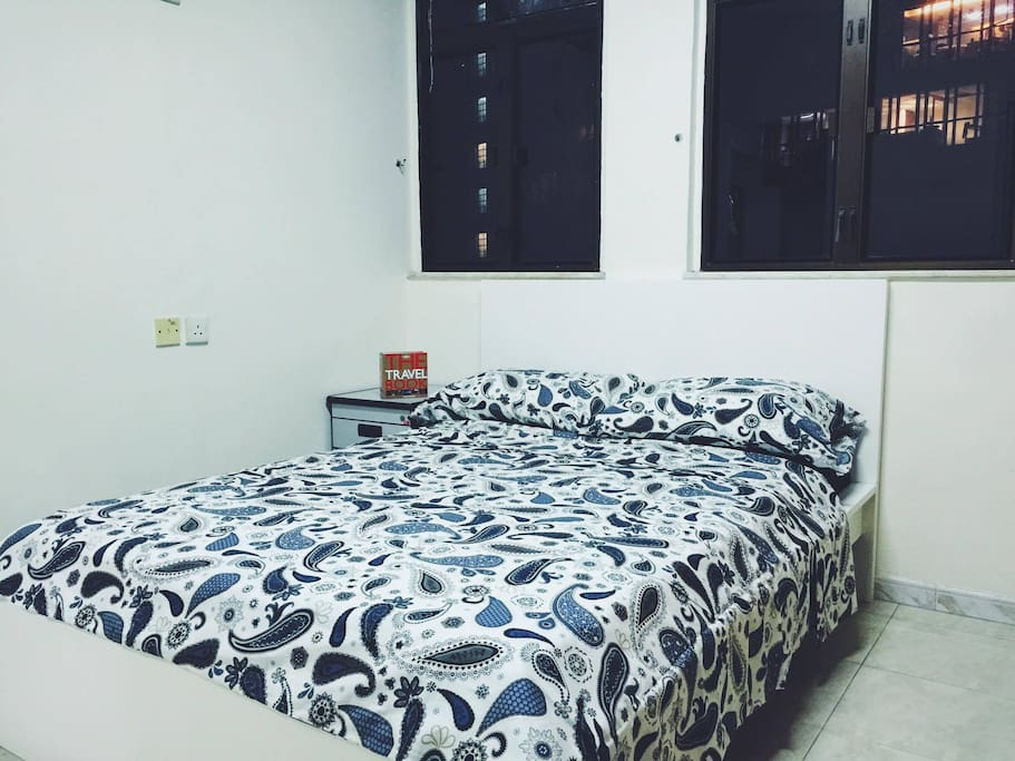 Very comfortable double bed in air-conditioned bedroom