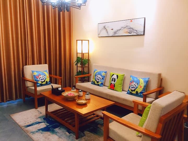 隆昌山南野民宿——欢乐熊猫--三卧度假别苑(古宇湖附近,古宇庙旁,3卧3厅3卫1厨房)