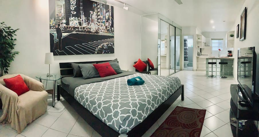 HUGE Studio, South Beach, KING BED!!