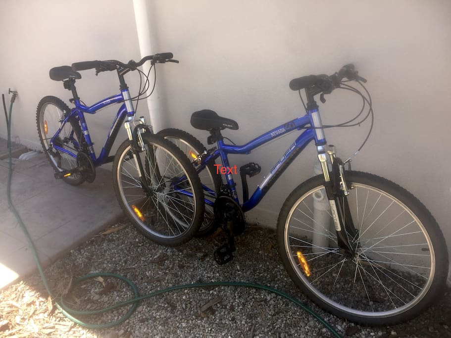 Bikes available  - riding tracks start 1 minute ride from the home.