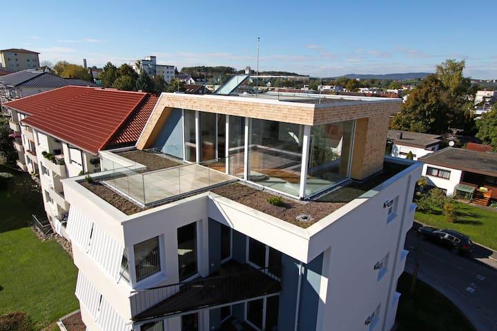 Einzigartiges Penthouse + Skydeck - Friedrichshafen - Apartment