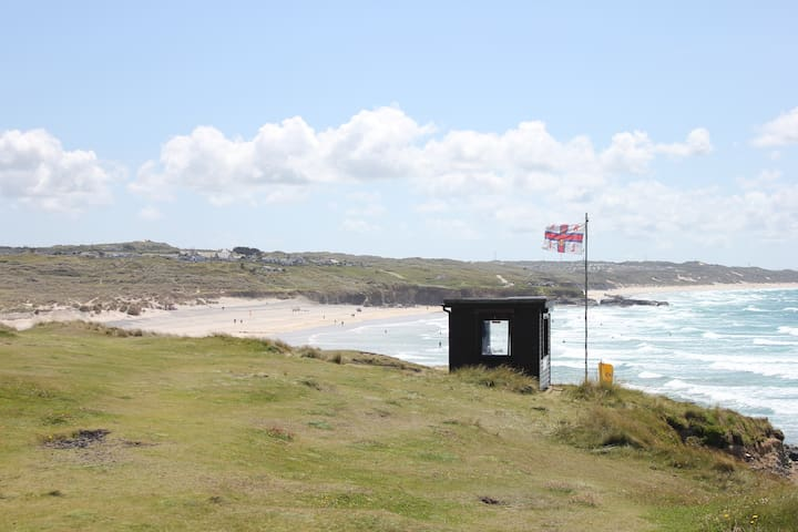 Life Guard hut near Godrevy point.