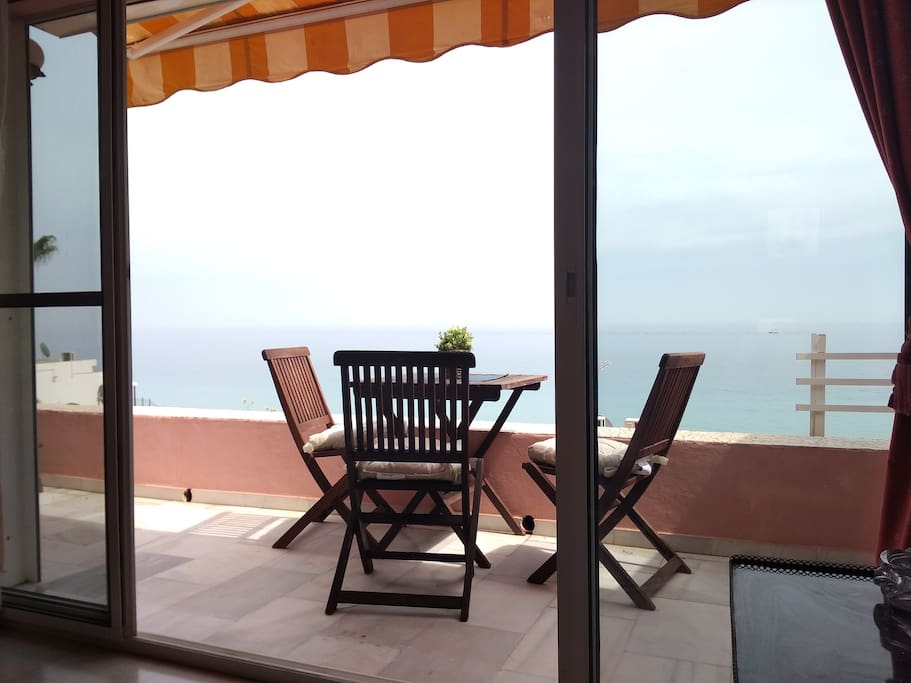 Large terrace where you can enjoy of sea view
