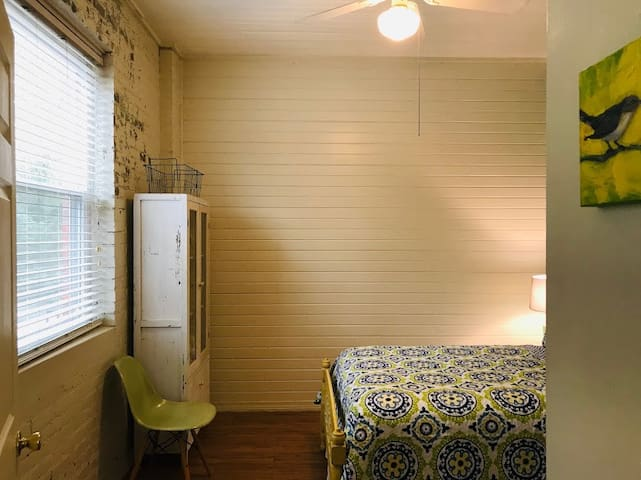 Songbirds Suite: This sweet room is right off the master suite and is comfortable for all ages but we put a few extras in for the kiddos.  A Pack n' Play is found in the closet, children's books and some toys can be found here too.