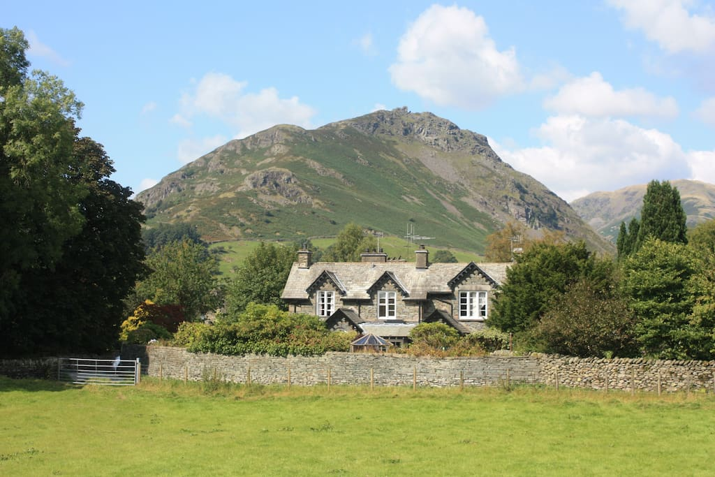 Rothay Lodge with Helm Crag in the background