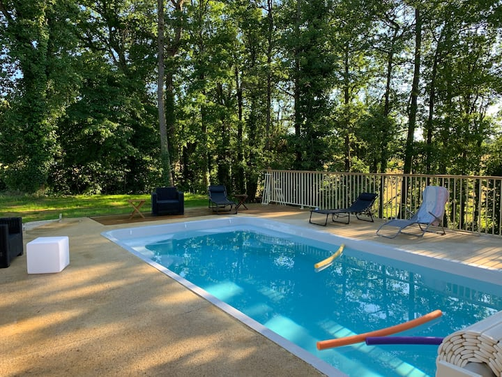 Perigord Maison 4/12 pers piscine privée Chauffée