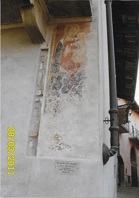 Affresco su facciata (sec. XV)