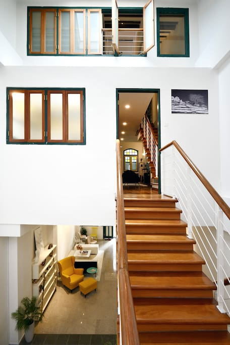 Entrance of our Prahran Loft on the 2nd floor of the house, on the front wing of our Heritage Shophouse