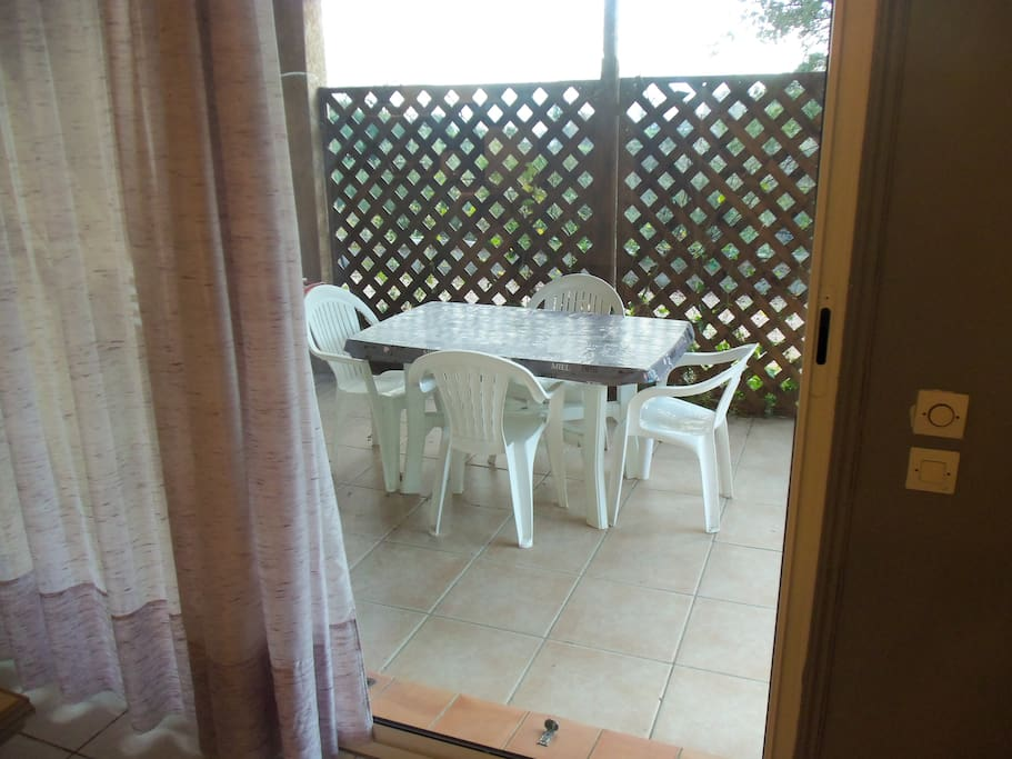 Terrasse couverte privative