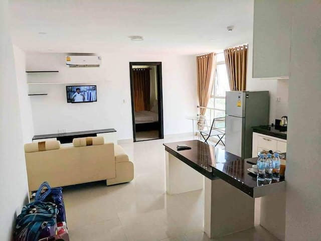 A clean, comfortable apartment welcoming guests