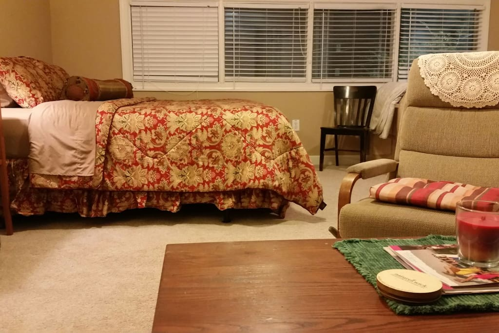 Large studio with all you'll need for your Savannah experience.