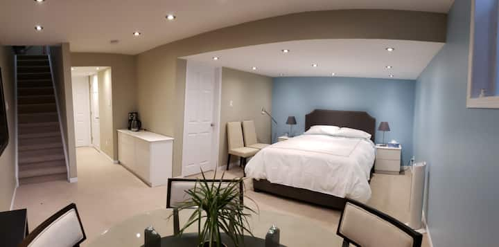 Chic Basement Suite with Full Bath and Breakfast