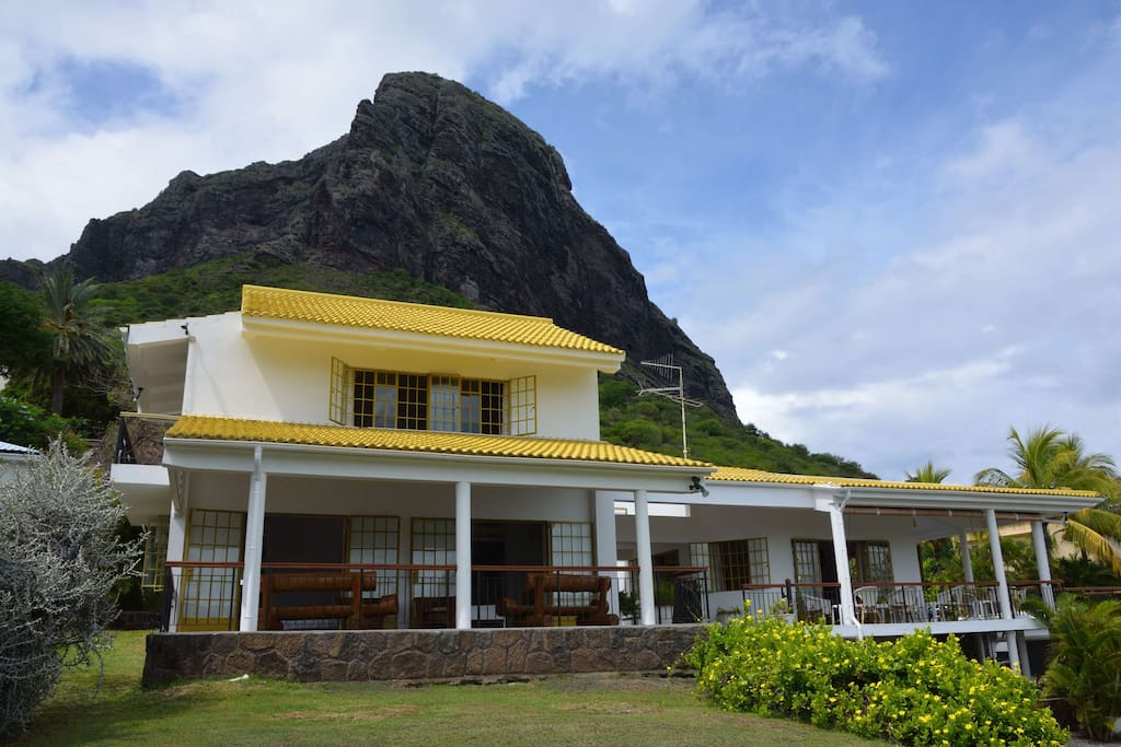 Outdoor living at the foot of Le Morne Mt.