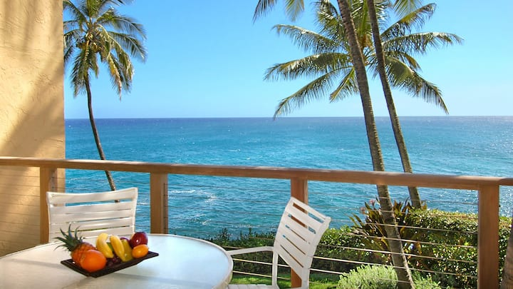 Oceanfront Condo W/ Pool! Watch Sunsets, Turtles & Dolphins!