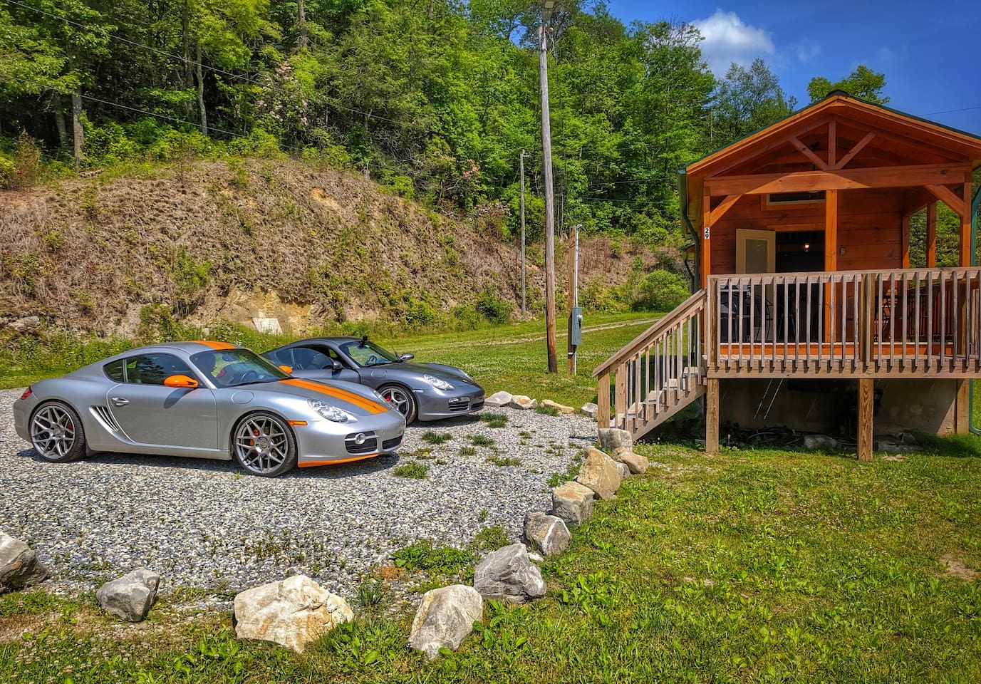 "While our cabin is incredible and in one of the most peaceful areas of North Carolina, there is adventure everywhere! Many of our renters come to drive the ""Tail of the Dragon"", also known as Deals Gap.  Some come for the Lake and Whitewater rafting."