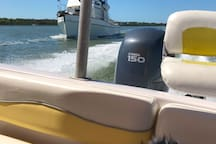Deck Boat cruise for fee