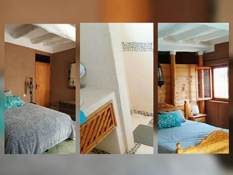 Suite 2 ch dans maison en terre, 7 km de Taroudant
