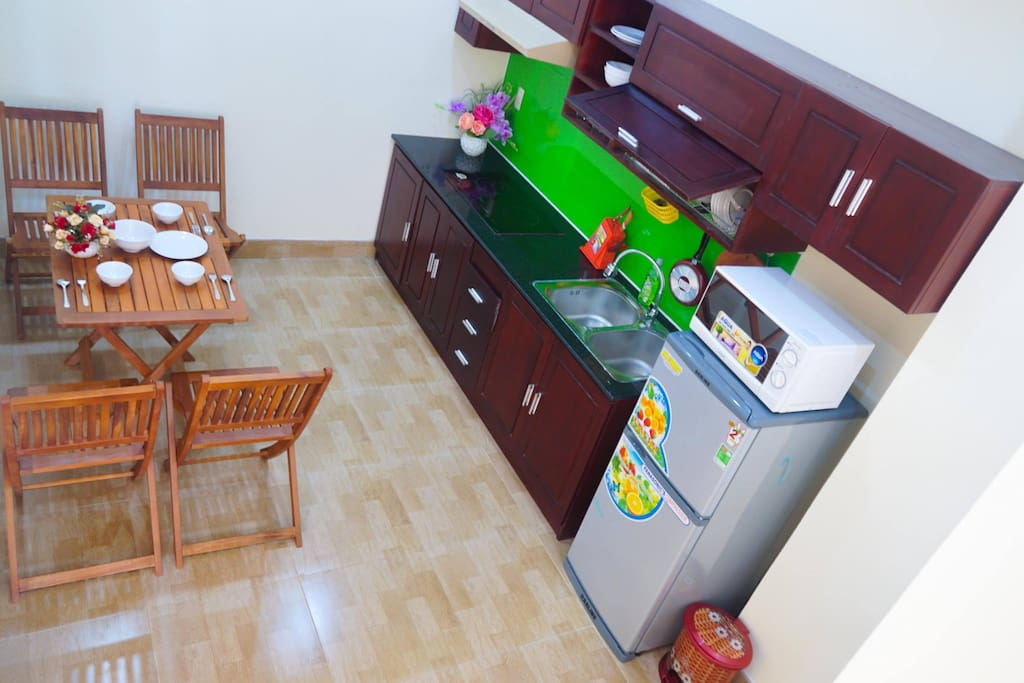 Shared kitchen is also offered for use with all cooking utensils you need