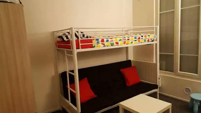 Studio meublé à louer à Paris