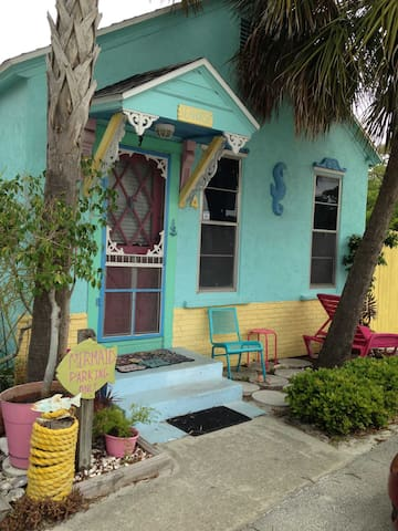 Seahorse Beach Cottage GulfSide(30steps to beach)
