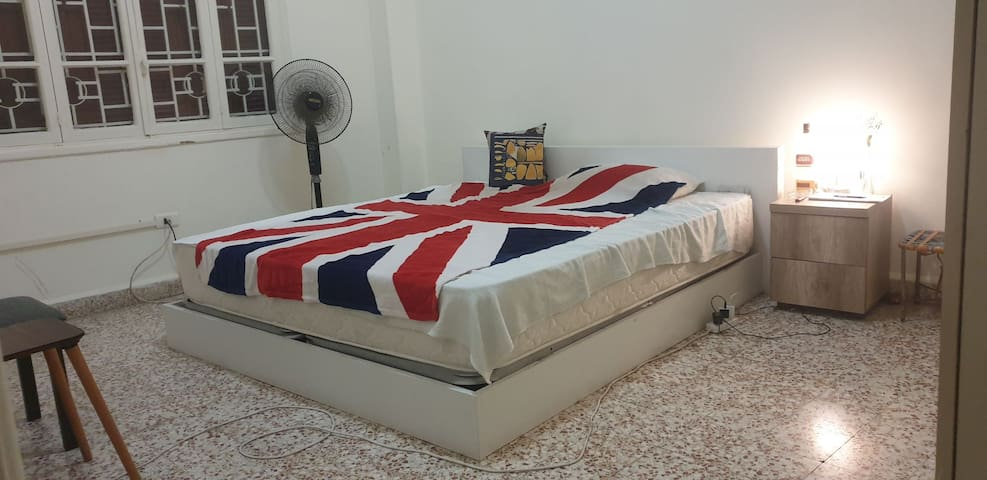 King Bed away from mar mikhael.
