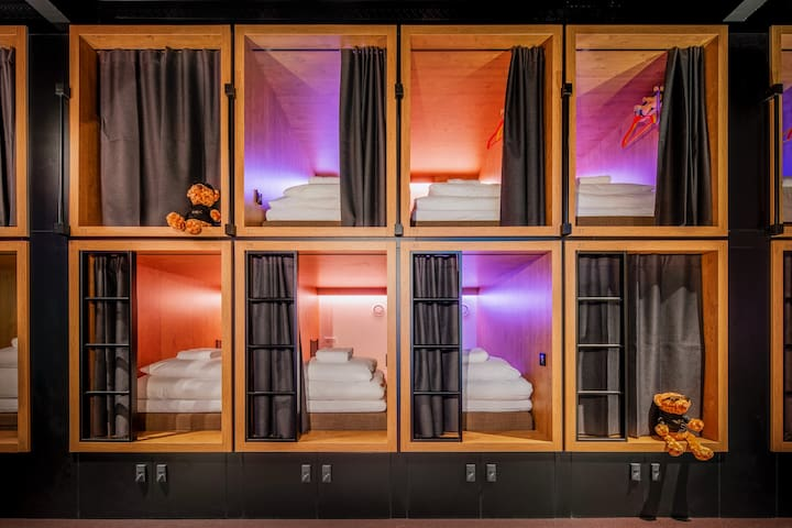 STAY HIP IN OUR SEMI-PRIVATE BUNK POD FOR 1