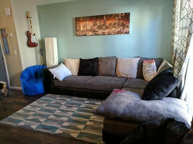 Cozy townhome bedroom