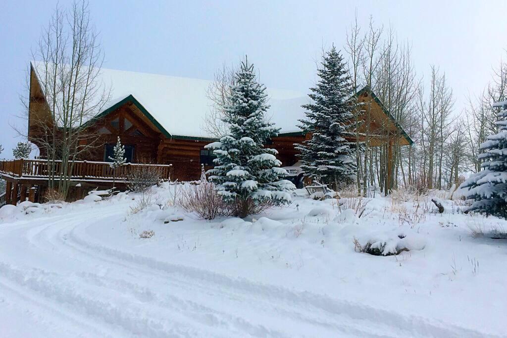 Snowy winter day.