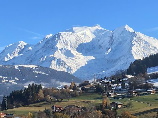 Appartement Combloux vu Mont Blanc