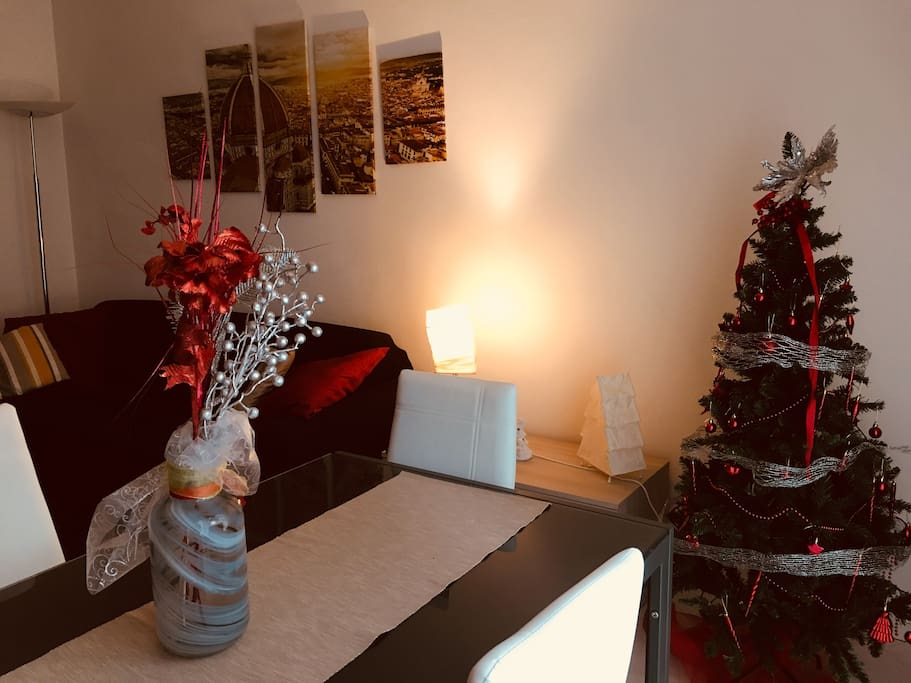 Christmas look of the living room